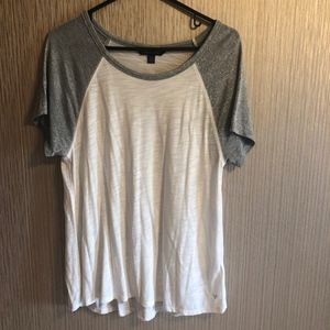 American Eagle baseball sleeve top